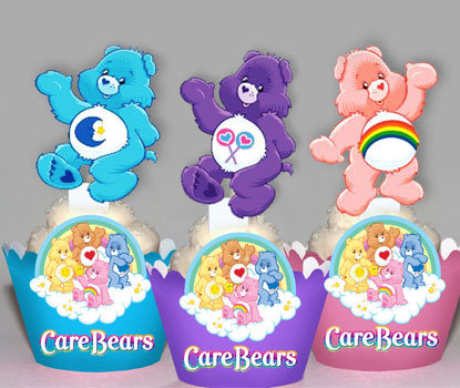 Rainbow Carebear Toppers