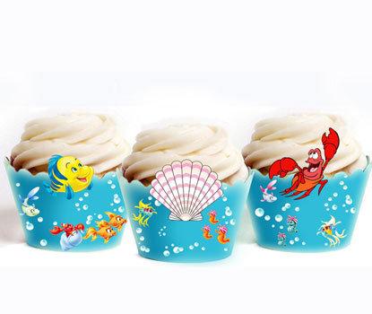 Under the Sea Mermaid Cupcake Wrappers