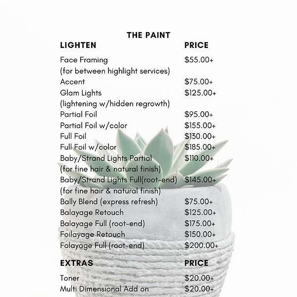 Salon Price List PNG (The Paint:Lighten)