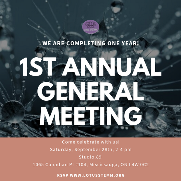 1st Annual General Meeting