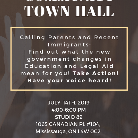 Community Town Hall: Cuts to Legal Aid & Education