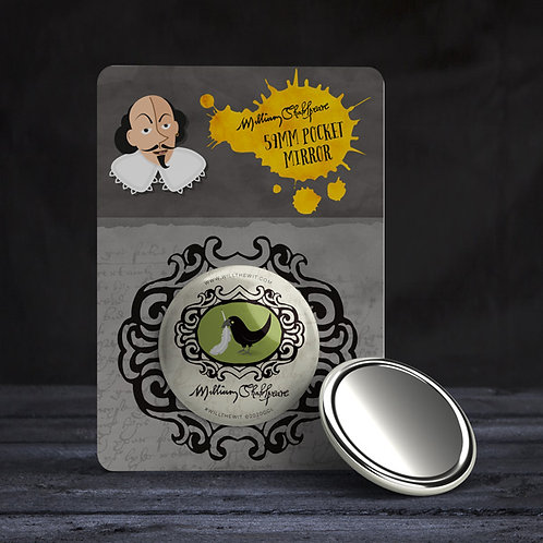 'Upstart Crow' Pocket Mirror