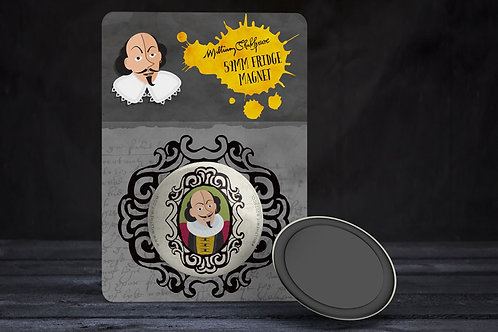 Large Will the Wit Fridge Magnet