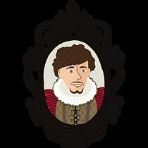 cartoon of Ned Alleyn, actor