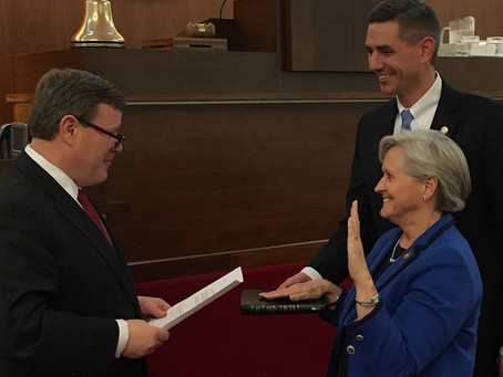 Speaker Moore Swears in Adcock for State Council