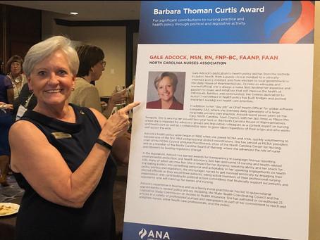 Adcock Wins ANA Award
