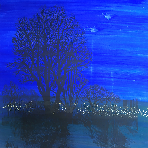 End of Garden; Night by Mary Bennett