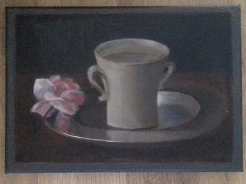 Cup of Water with Rose, after Zurburan by Jack Irish