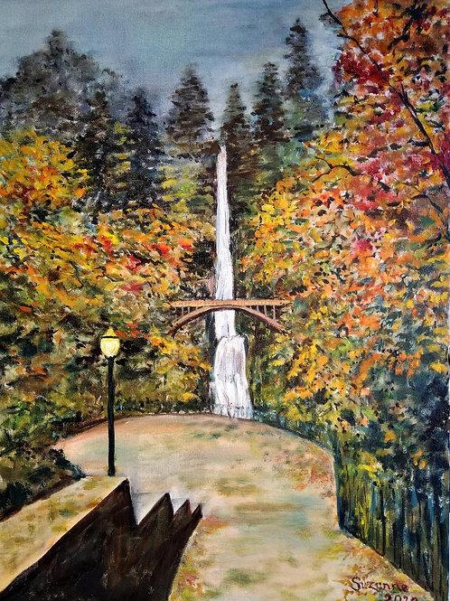 Multnomah Falls, Oregon by Suzanne Flowers