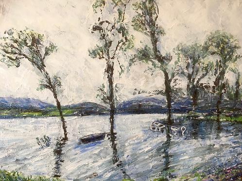 Flooded Loch Scotland by Kathy Drake