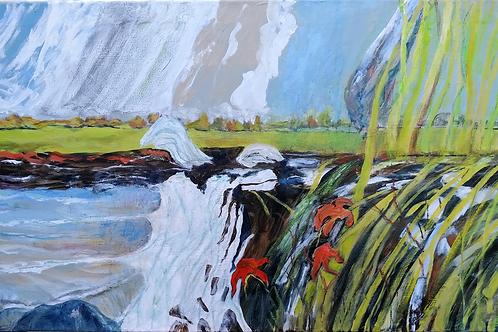 Wet Spring Romney Marsh by Deirdre Ellis