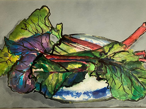 Vibrant Chard by Edythe Peters