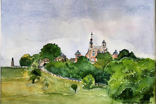 View of Royal Observatory Greenwich Park by Edythe Peters