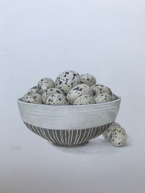 Bowl of Quails Eggs by Lindsey Malin