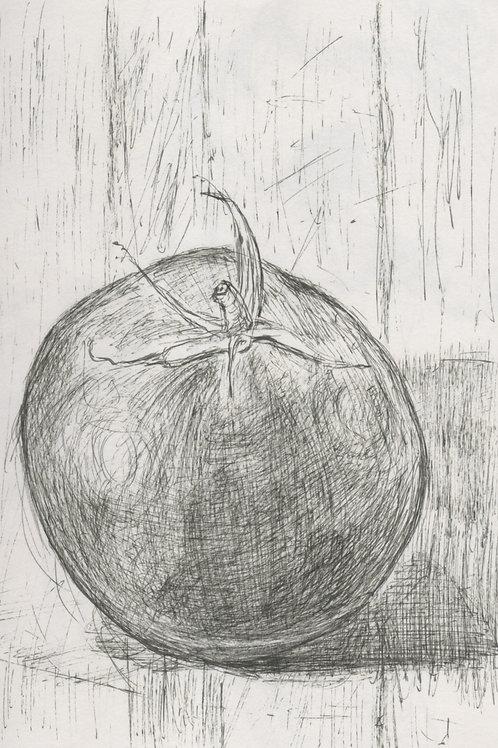 A Homegrown Tomato by Nadia Kazakova