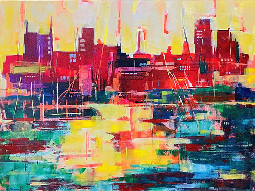 Cityscape - Thames Dockside by Bet Mishra