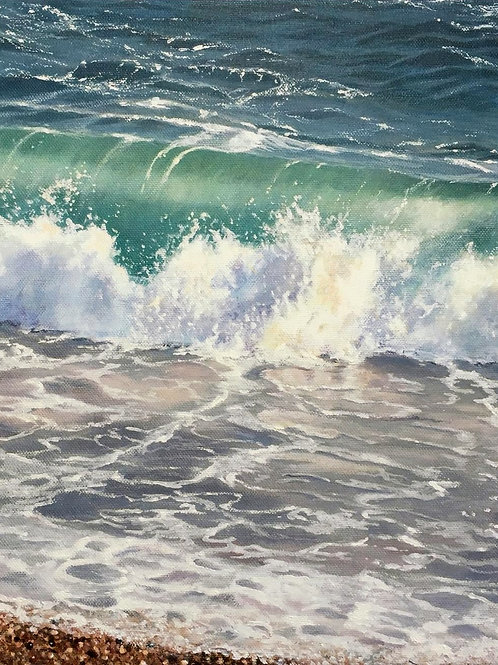 Chesil Beach Surf by Christine Rogers