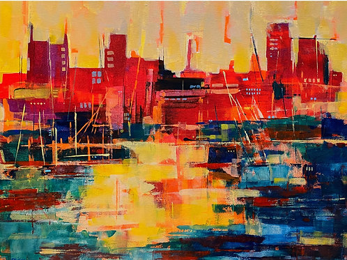 City, Docks by Bet Mishra