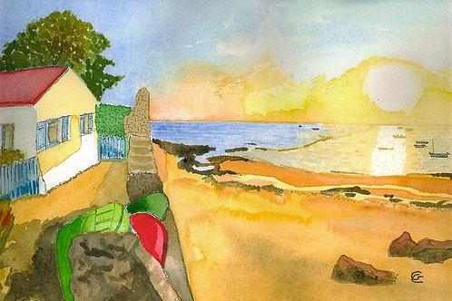 Sunrise on the Beach by Gunda Cannon