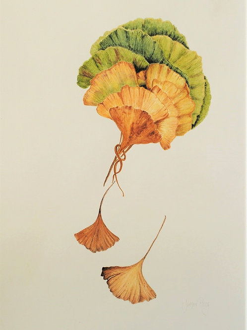 Autumn Bouquet Ginko Biloba by Jacqueline Ploog