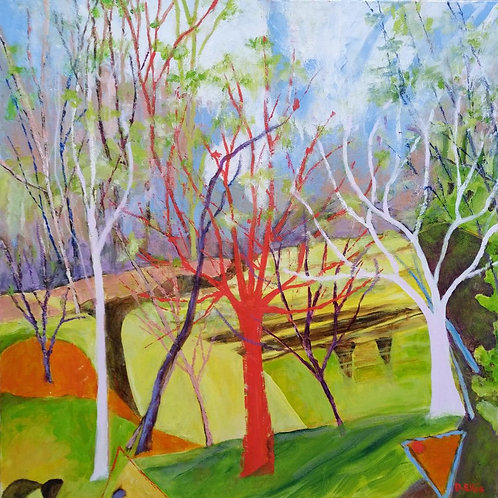 Red Tree by Deirdre Ellis