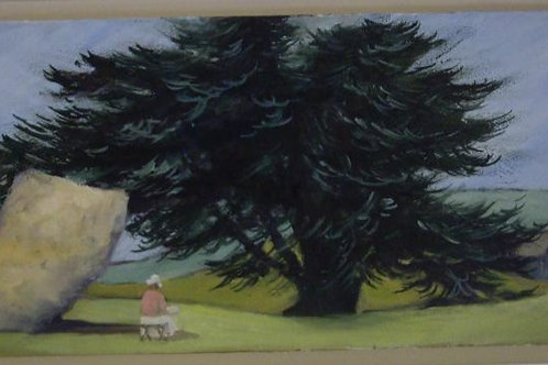 The Artist in a Landscape by Liese Cattle