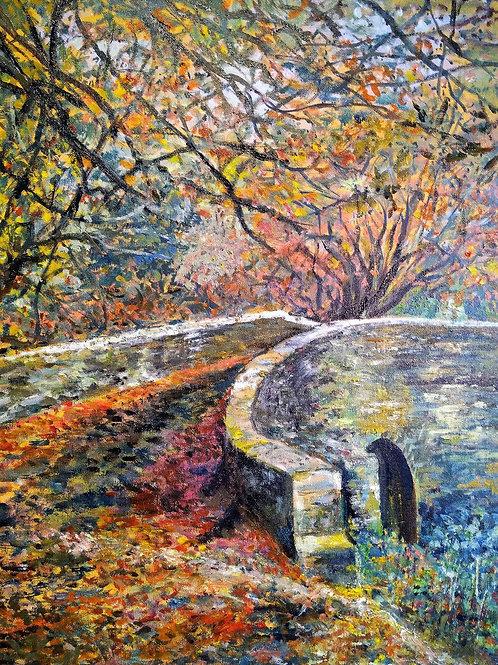 Old Bridge, Autumn Colours by Suzanne Flowers