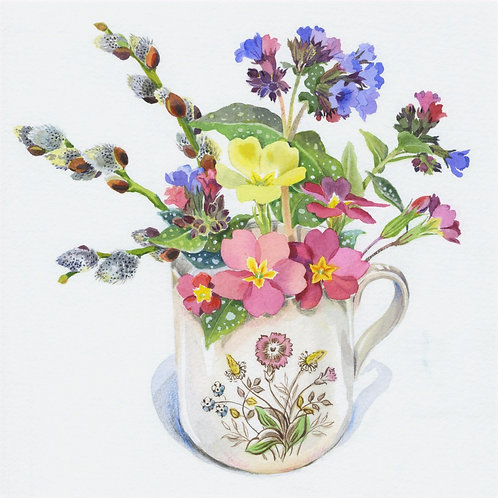 Primrose Cup by Mary Woodin