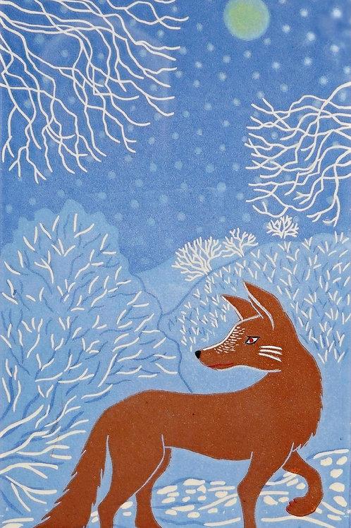 Night Hunting Fox by Elaine Marshall