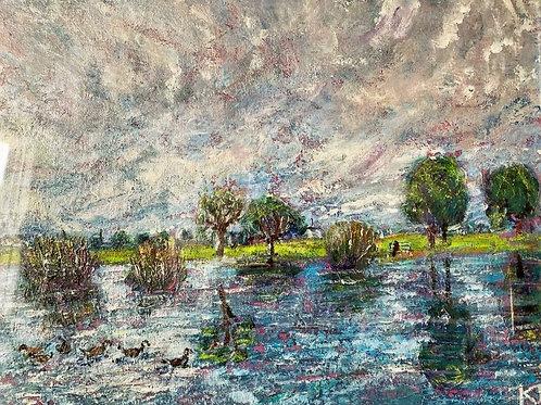 Duck on Princess Pond by Kathy Drake