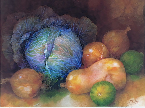 Cabbage and Butternut Squash by Shirley Felts