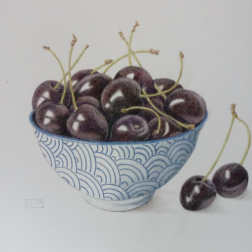Bowl of Cherries by Lindsey Malin
