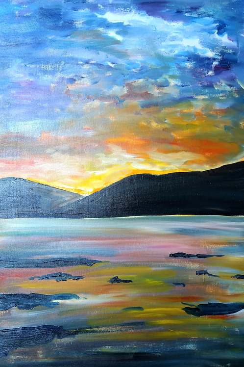Sunset Over the Isle of Mull by Suzanne Flowers