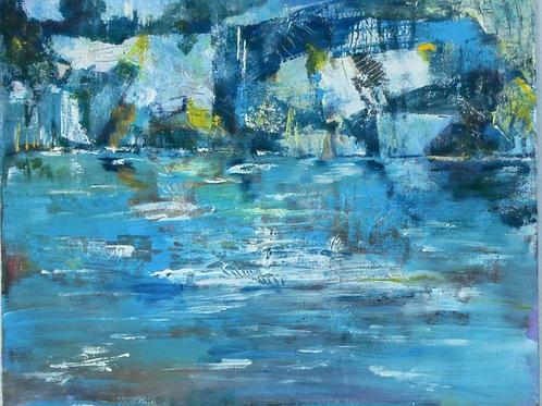 Icy Lake by Julie Cooper