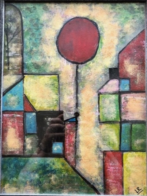 Red Balloon (inspired by Paul Klee) by Lyn Riley
