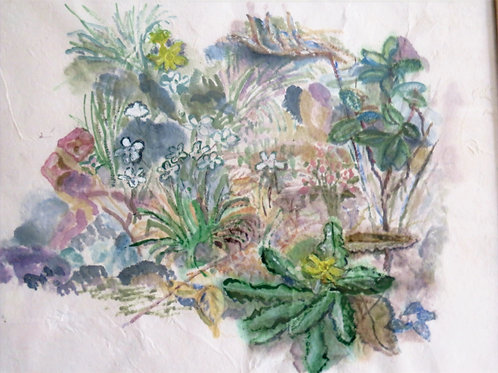 Wild Flower Bank 2 by Barbara Saalfeld-Edwards