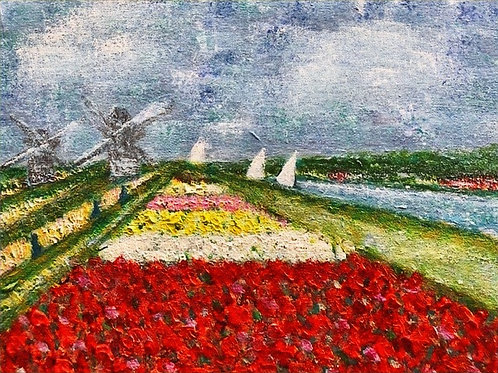 Tulip Time (inspired by Monet) by Lyn Riley