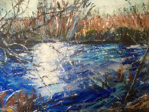 Dulwich River Winter by Kathy Drake
