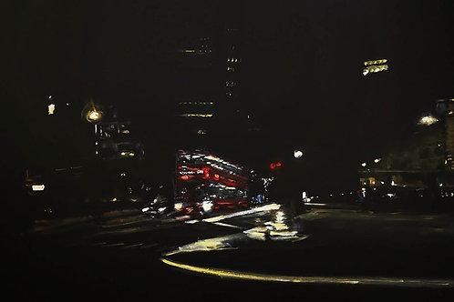 Soho Night Bus by Lubna Speitan