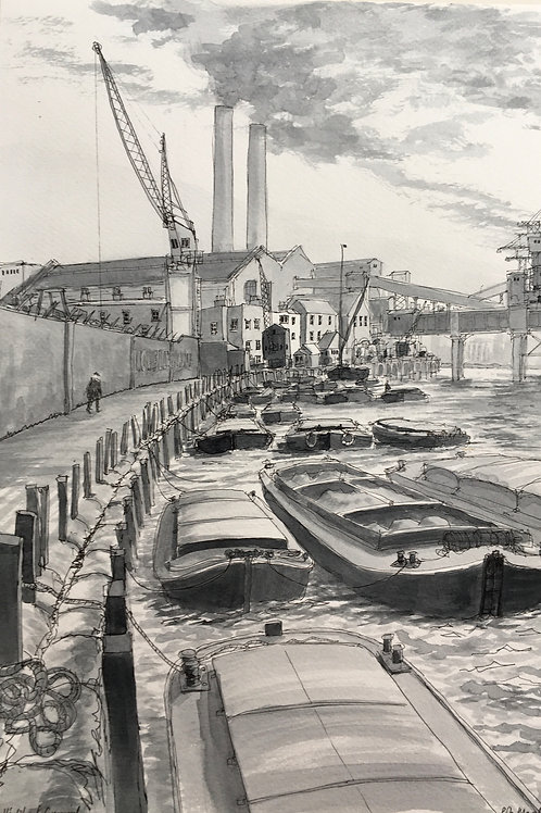 Lovell's Wharf, Greenwich, 1959 by Rob Marchant