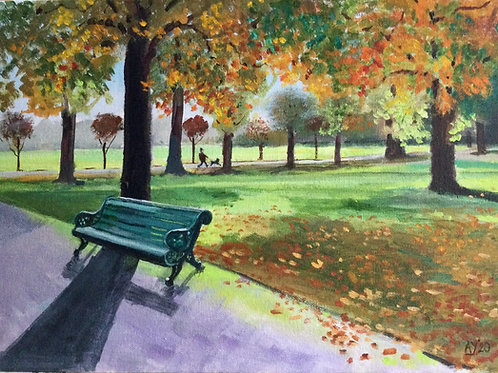 Greenwich Park, Autumn Morning by Anthony Young