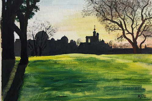 Greenwich Observatory at Dusk by Anthony Young