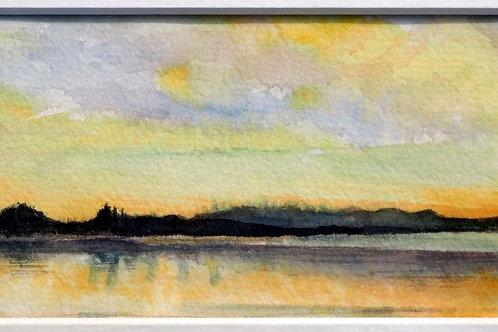Patons Rock Sunset, South Island, New Zealand by Anita Armitage