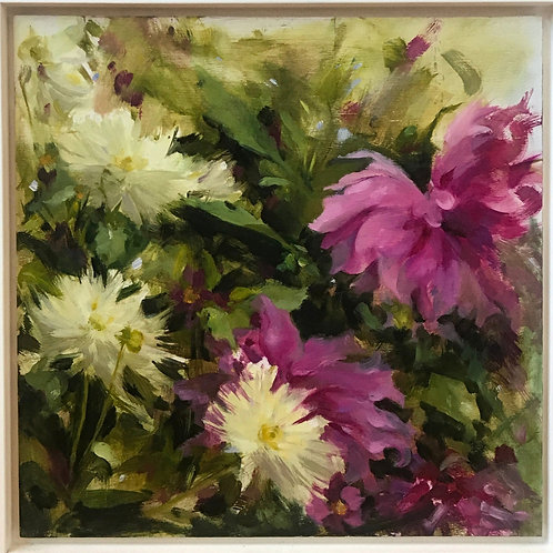 Tom's Dahlias I t by Sophie Cook