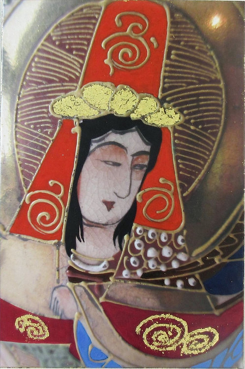 Bodhisattva with Red Hat by Margaret Higginson