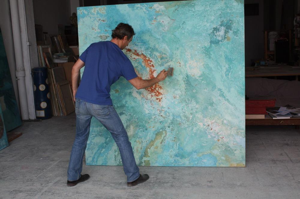 Studio Roc Boronat with Man swimming