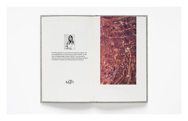 The Bath Project by Dr Barbara Kubicka – Bespoke book design services by Emily Benton Book Design