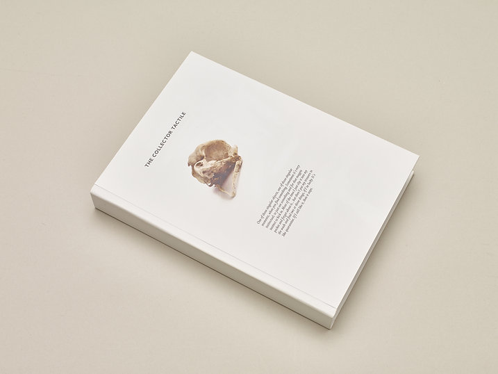 The Collector Tactile – An artist's book by David Cochrane. Book design, layout, binding and typesetting by Emily Benton