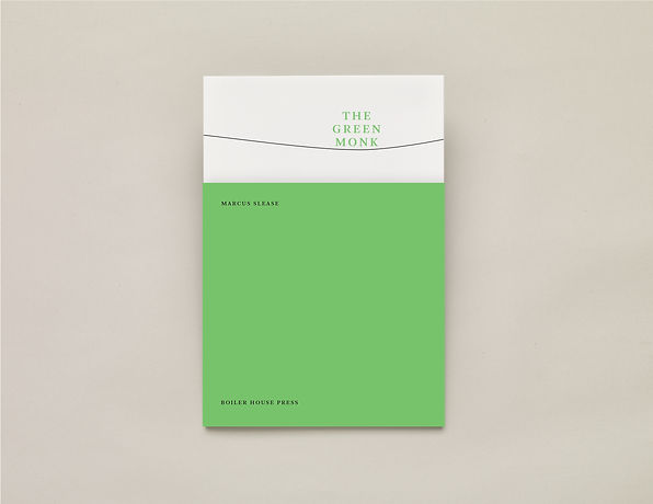 The Green Monk, Marcus Slease – UEA Publishing Project – Boiler House Press – Poetry Book – Emily Benton Book Design