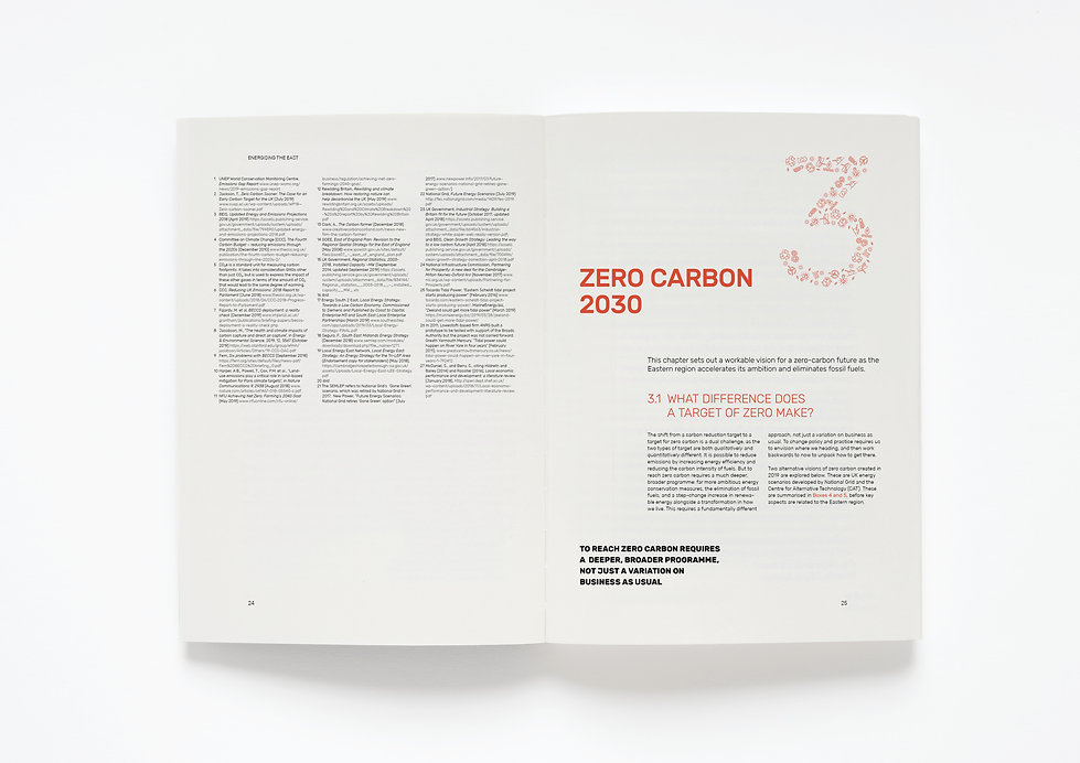 Energising the East, an Energy Transformation Plan for the Future. Report comissioned by Catherine Rowett MEP, the Greens/EFA Group. Design and typesetting and print production management by Emily Benton Book Design